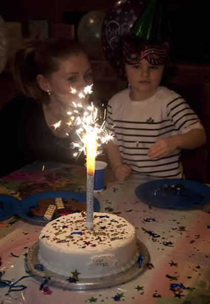Indoor Sparklers Party Tips